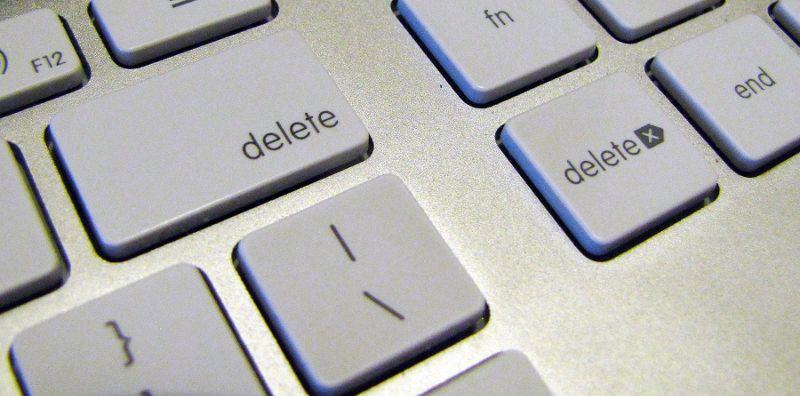 Botones de borrar en teclado Mac