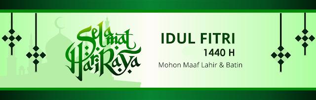 banner spanduk hari raya idul fitri 1440 H