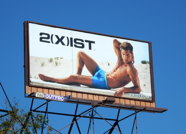 2Xist Tropic underwear billboard