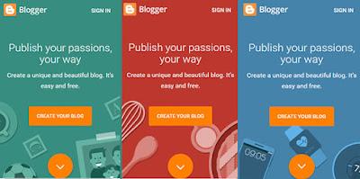 tampilan baru blogger.com