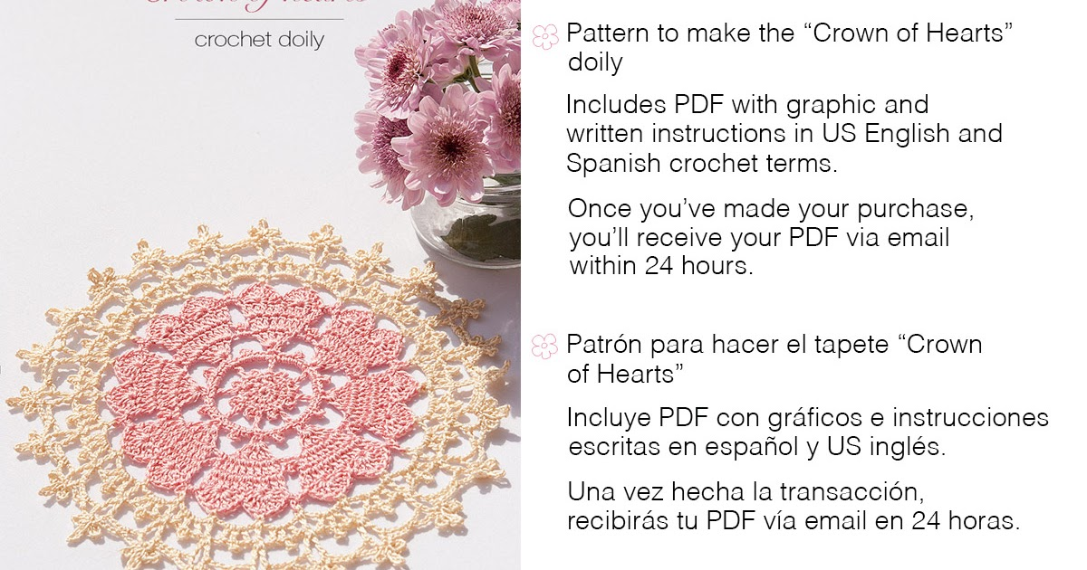 Anabelia craft design: Crown of hearts doily