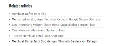 Cara Membuat Related Post di Postingan Blog