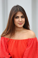 Rhea Chakraborty in Red Crop Top and Denim Shorts Spicy Pics ~  Exclusive 329.JPG