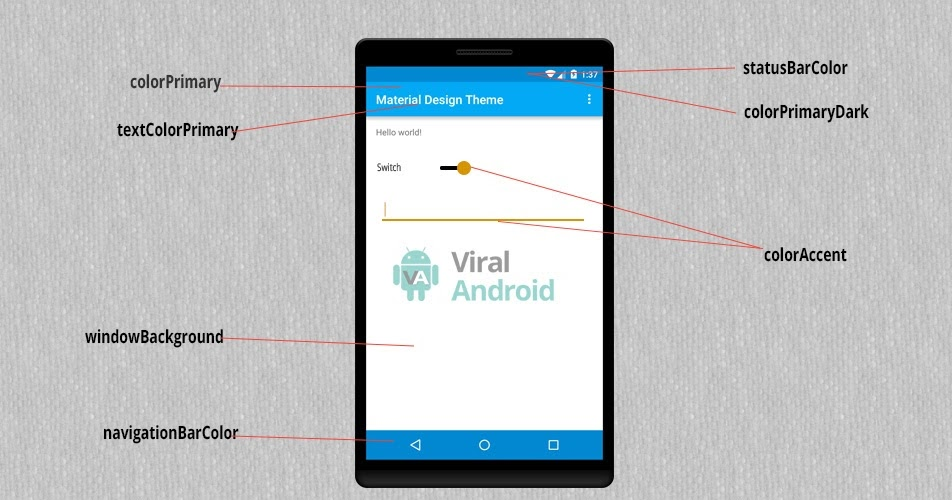 Android Custom Material Design Theme and Color | Viral