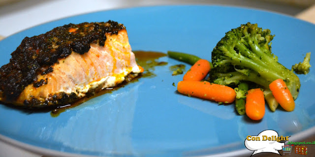 salmon and veggies מתכון לסלמון וירקות