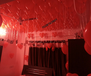 bedroom decoration ideas for couples & Romantic Room Decoration For Surprise Birthday Party in Pune