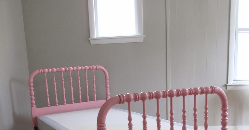 Blue Lamb Furnishings Pink Jenny Lind Spindle Spool Bed