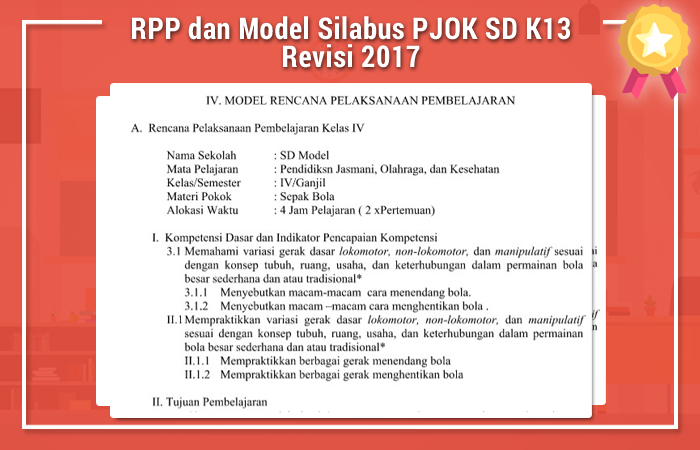 Rpp Dan Model Silabus Pjok Sd K13 Revisi 2017 Kurikulum 2013 Revisi Blog