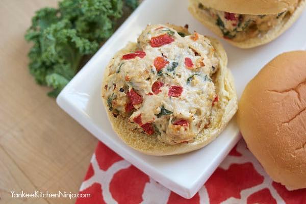 Skinny red pepper chicken sliders recipe