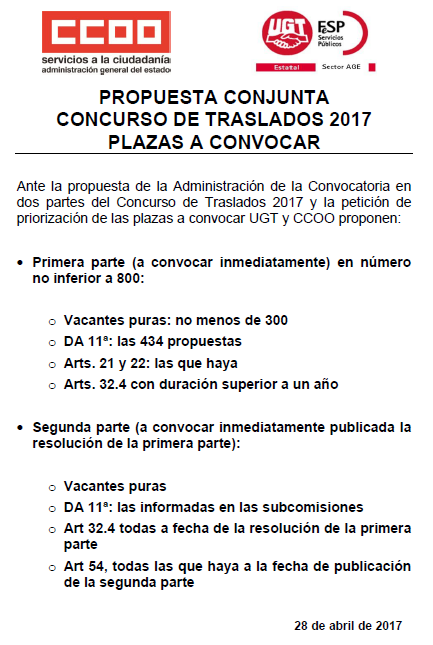 Age convenio unico concurso de traslados propuesta for Ccoo concurso de traslados