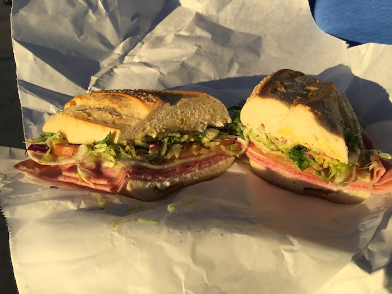 Deluxe sub sandwich at Mona Lisa Italian Foods in San Diego's Little Italy