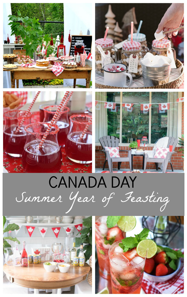 Canada Day Party ideas from 6 Canadian decor and lifestyle bloggers.