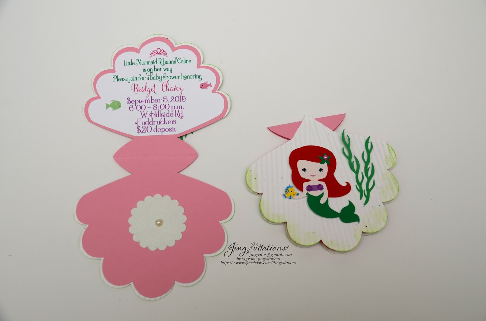 Birthday and baby shower invitations little mermaid baby shower under the sea you might also like little mermaid handmade invitations filmwisefo