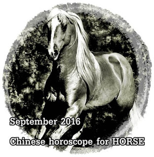 September 2016 Chinese horoscope for HORSE