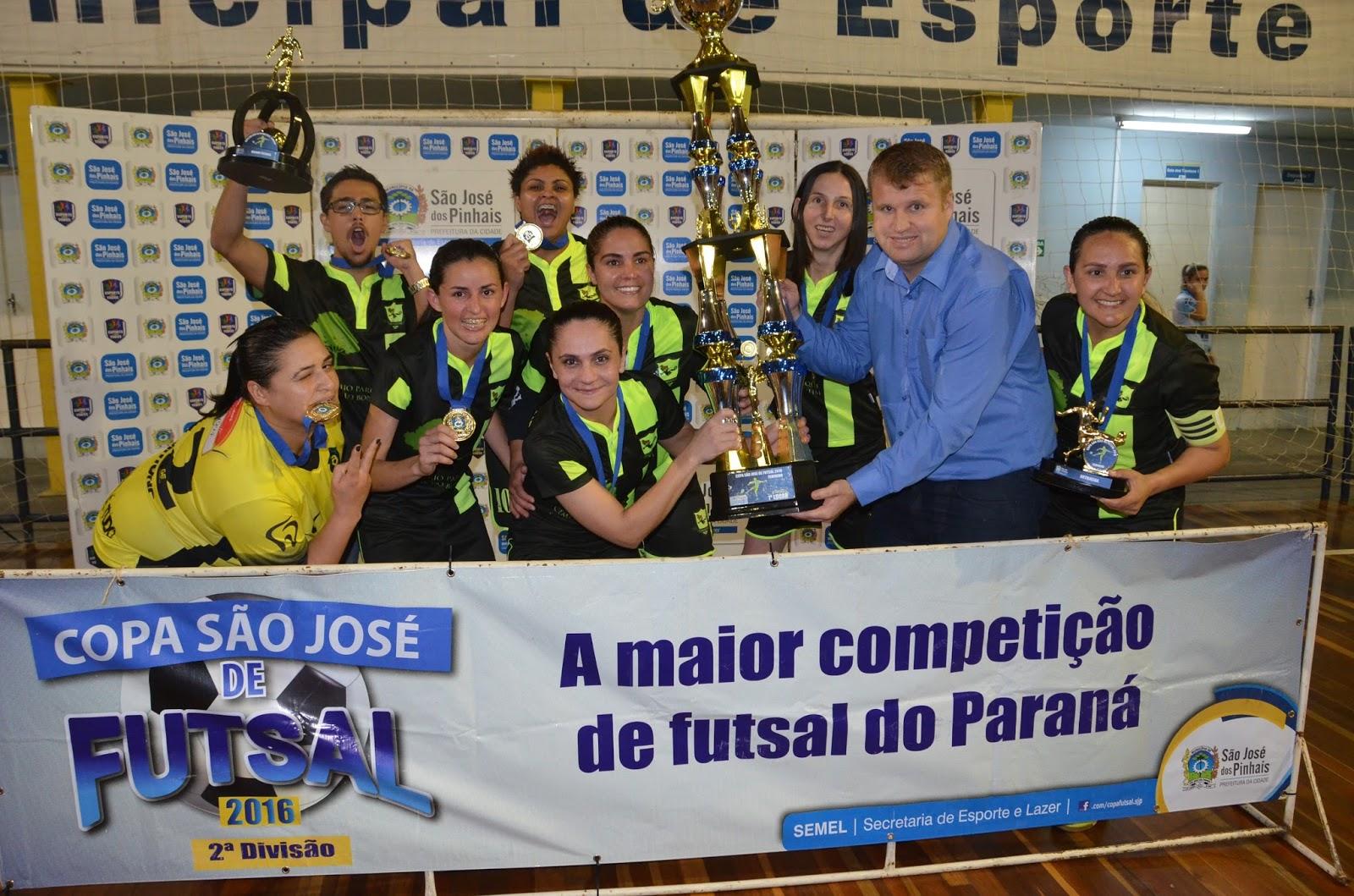 6b376ffd36 Copa São José de Futsal 2016 encerra categorias Aberto Feminino e  Quarentinha com festa no Ginásio Ney Braga