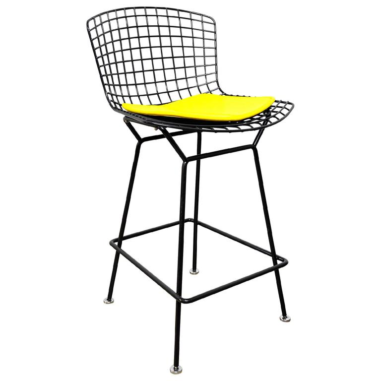 Select modern harry bertoia for knoll black bar stool - Tabouret bar bertoia ...