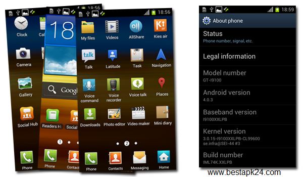 Galaxy S2 to Android 4.0.3