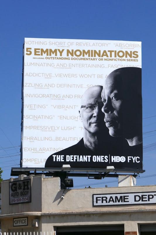 Defiant Ones 2018 Emmy nominee billboard