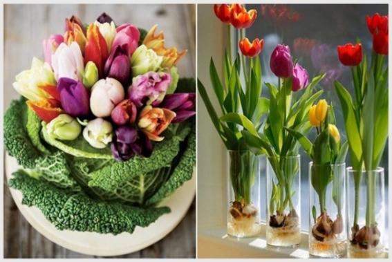 Dekoracje Z Tulipanów Niech Dzień Pachnie Wiosną