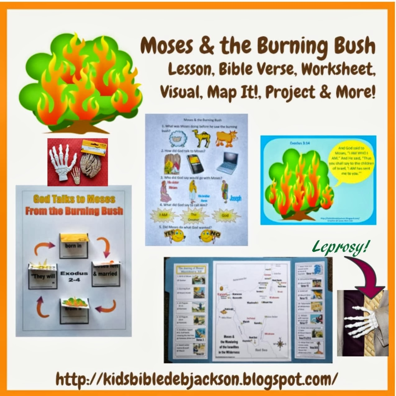 Today s lesson is Moses and the Burning Bush  You can see a more    Moses Burning Bush Craft
