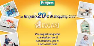 Logo Pampers ti regala un buono Dalani da 20 euro : premio sicuro