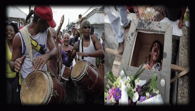 इस देश में जिन्दा आदमी को दफनाकर जश्न मनाते हैं लोग