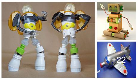 Juguetes Hechos Con Materiales Reciclados Construccion Y - Manualidades-con-objetos-reciclados-para-nios