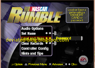 Kode Cheat Nascar Rumble PS1 dengan cara menggunkanannya ...