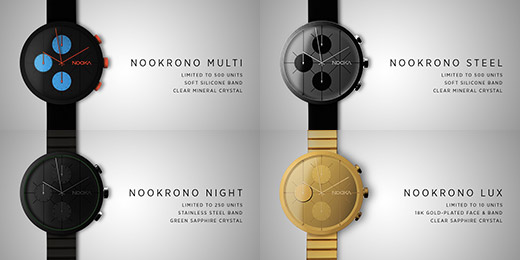 NOOKRONO Chronograph Watches by NOOKA via IndieGoG