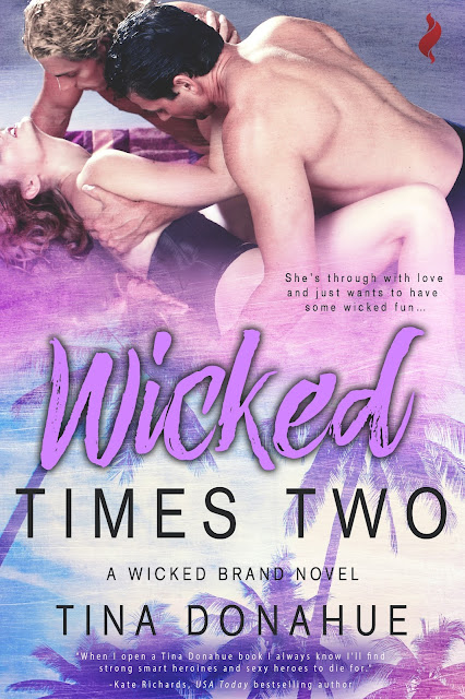 She's through with love and just wants to have some wicked fun – with TWO hot cops! WICKED TIMES TWO – menage #TinaDonahueBooks #menage #SouthFlorida #HotCops #Tattoos