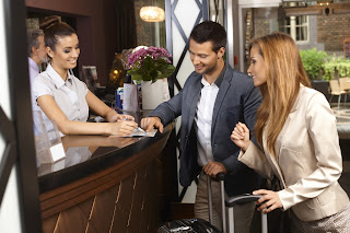 Tourist and Hotel Receptionist