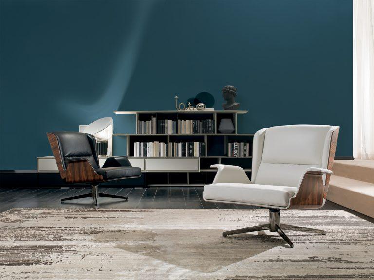 modern mid century designer armchair