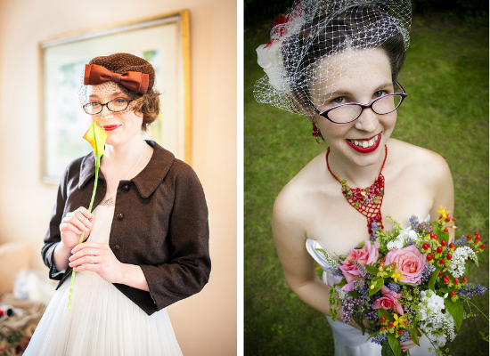 Spose con gli occhiali, brides with glasses