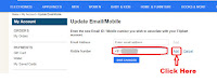 how to change mobile number in my flipkart account