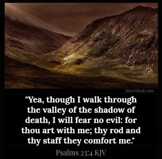 Image result for yea though i walk through the valley kjv