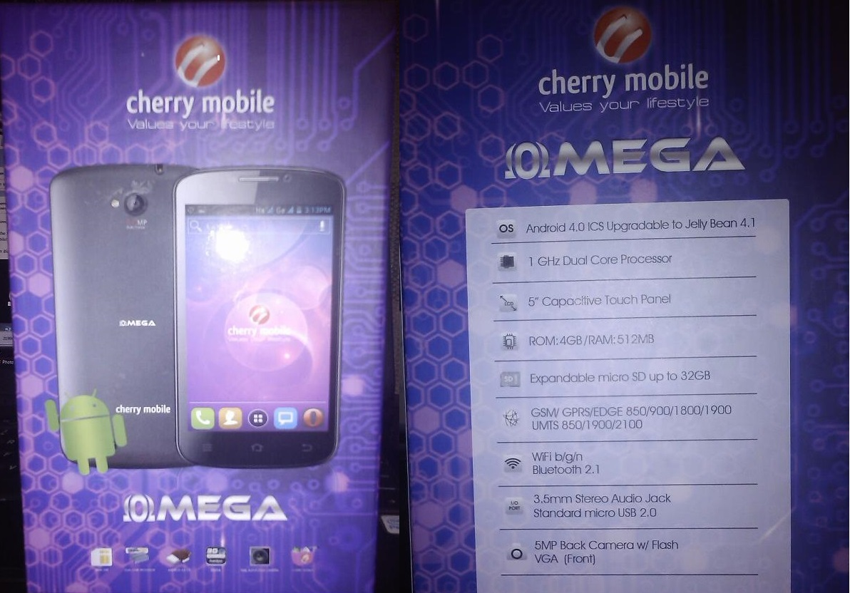 Cherry Mobile Omega Retail Box