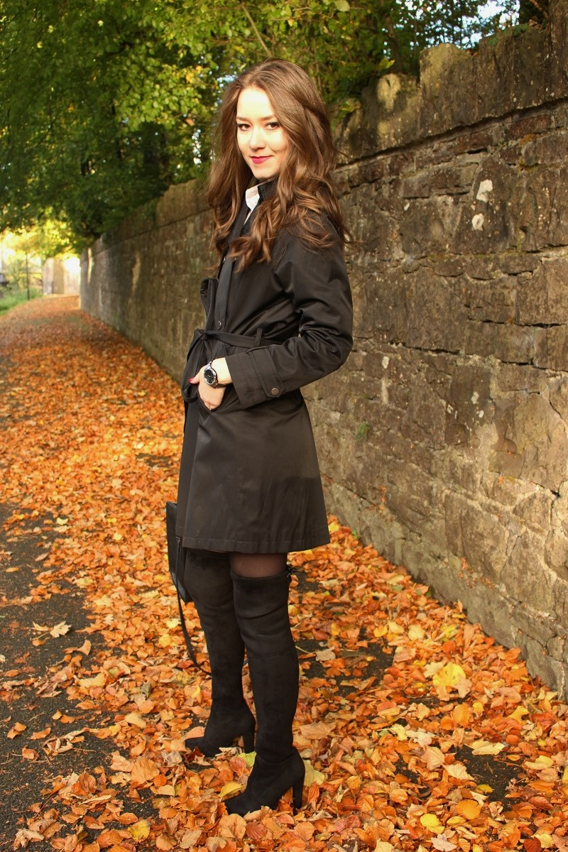 how to style overknee boots, black overknee boots