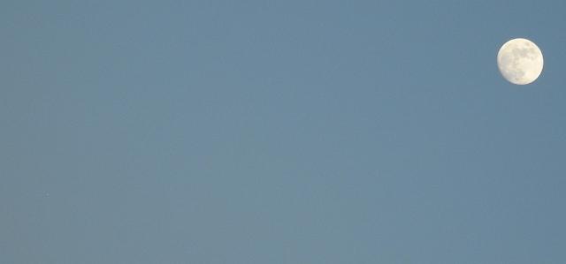The moon and faint Jupiter (Bottom left)