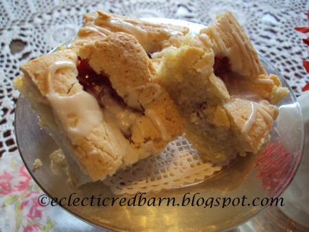 Eclectic Red Barn: Easy Cherry Squares close up