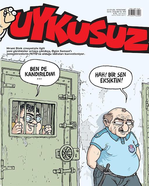 Uykusuz Dergisi - 15 Eylül 2016 Kapak Karikatürü
