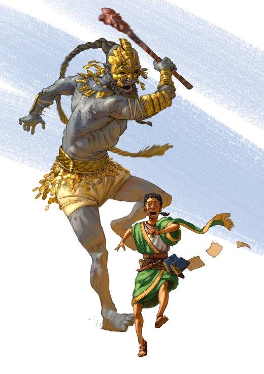 Hazem Ameen artstation deviantart arte ilustrações fantasia mitologia