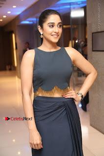 Actress Regina Candra Stills in Beautiful Blue Long Dress at Nagaram Success Meet  0077.JPG