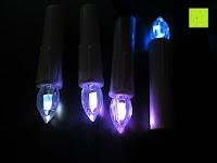 2 Farben: Yorbay® LED Weihnachtskerzen RGB/Warmweiß mit Fernbedienung mit Timerfunktion 10-100stk (20)