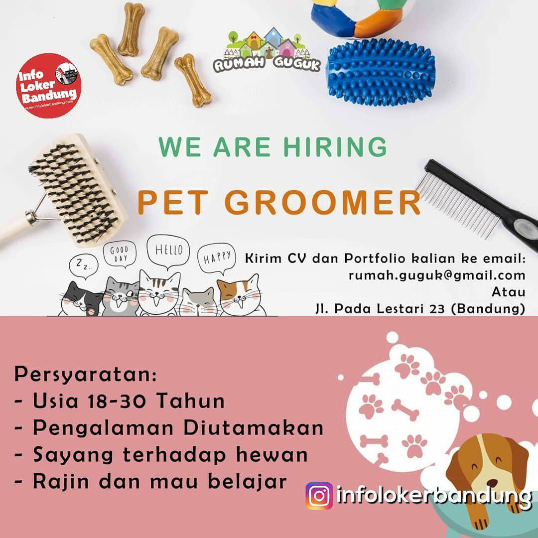 Lowongan Kerja Pet Groomer Rumah Guguk Bandung Januari 2019
