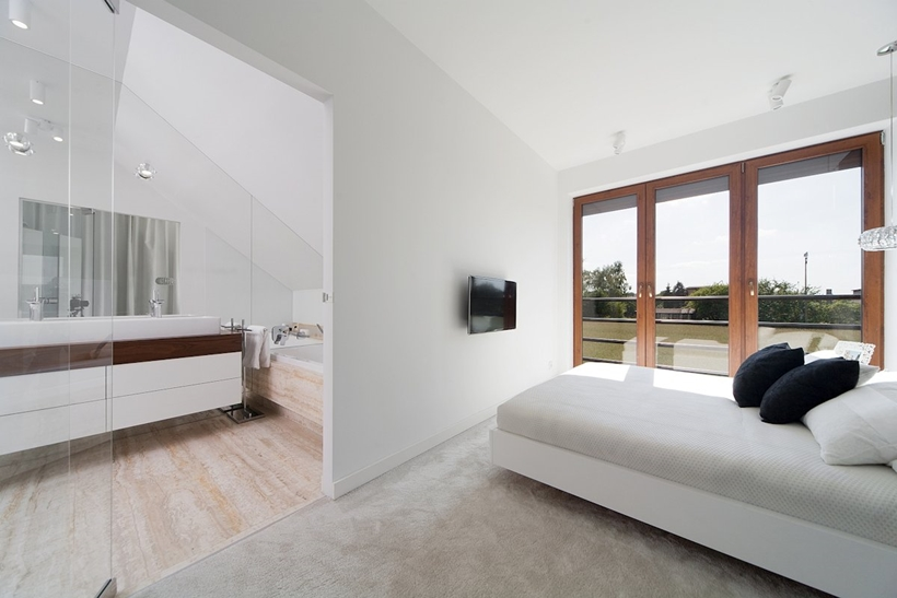 Bright modern bedroom