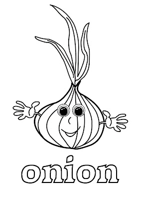 coloring for learning english - onion
