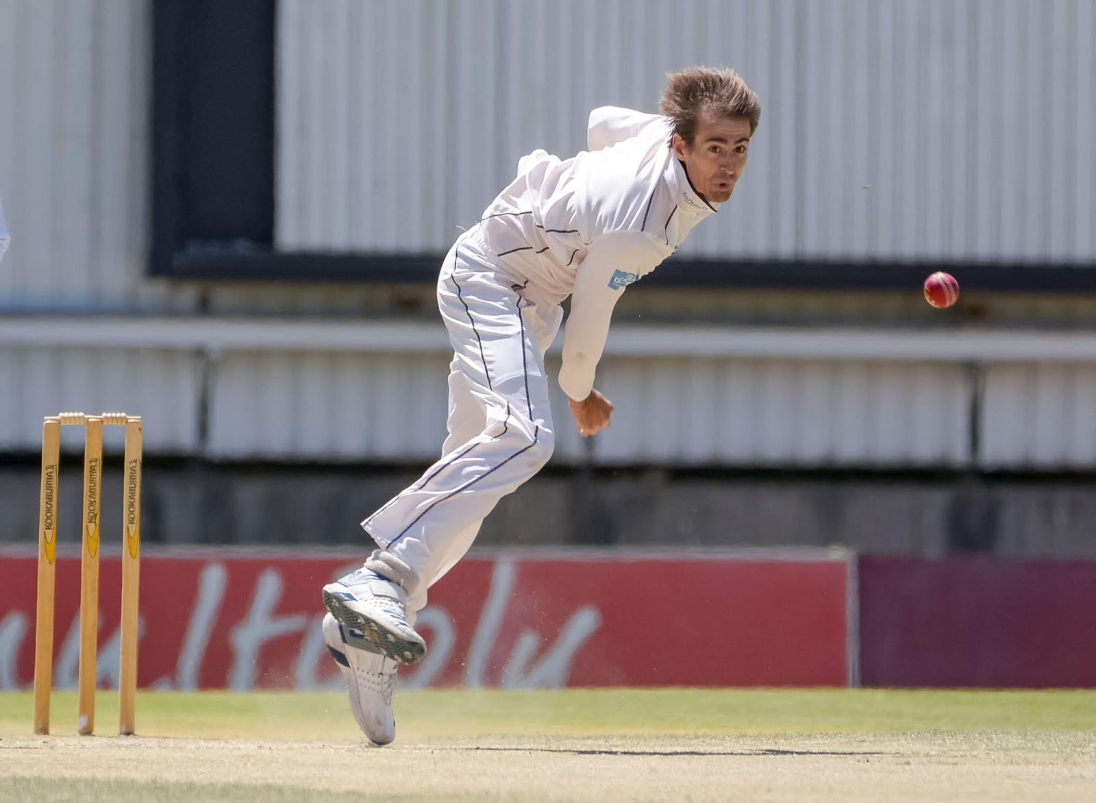 Daryn Dupavillon bowling for the Hollywoodbets Dolphins in the CSA 4-Day Franchise Series 2019/20