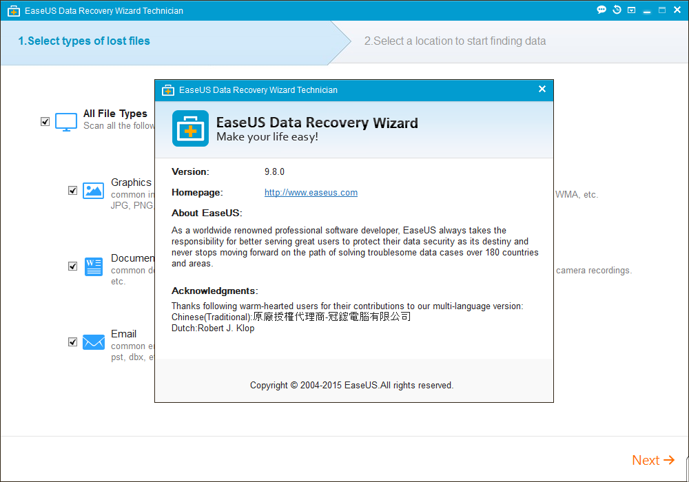 license key for easeus data recovery wizard