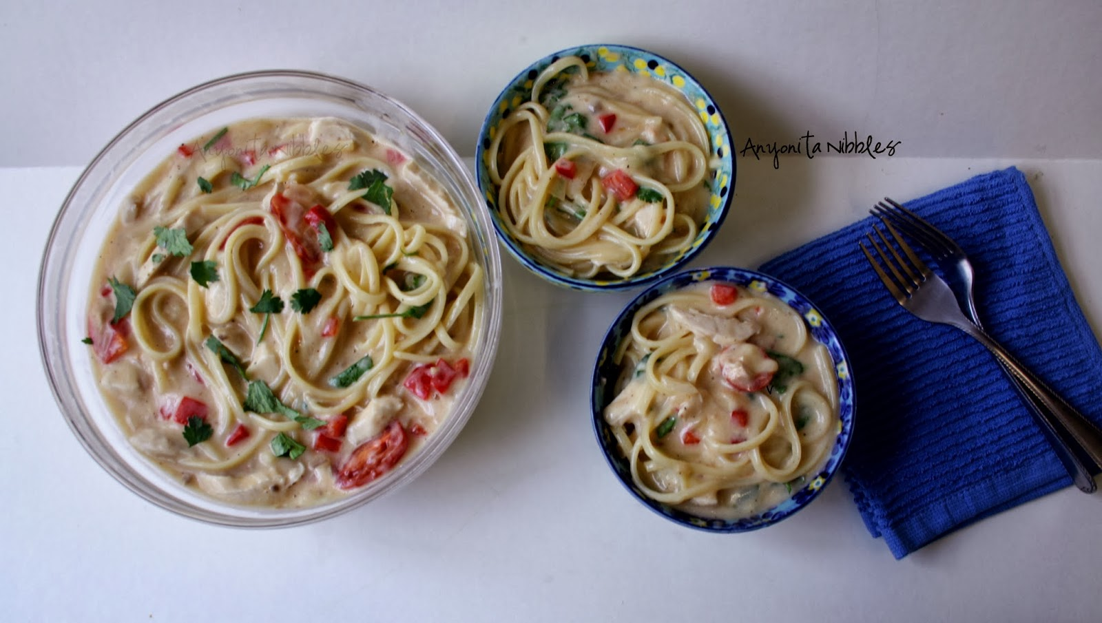 An intriguing comination of flavors in an easy tocook spaghetti dish!