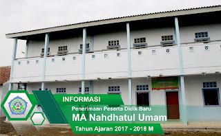 Pendaftaran MA Nahdhatul Umam Kempek 2017